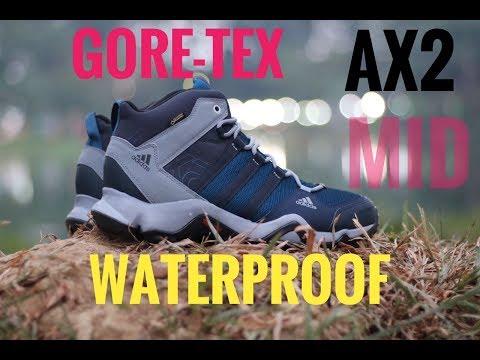 ee53c039e48 review singkat sepatu waterproof Adidas AX2 mid GORE-TEX