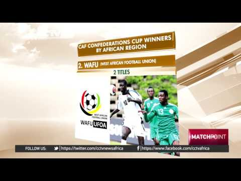 Five African regions in the history of CAF Confederations Cup