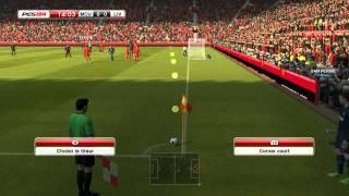 PES 2014 (ManUtd Vs liverpool ) PC Gameplay 1er partie