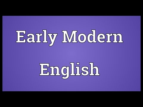 Early Modern English Meaning