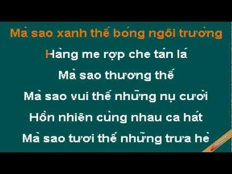 Hoa Hoc Tro Karaoke - M4u - CaoCuongPro