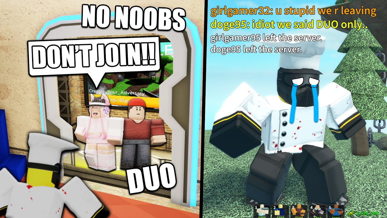 I MET TOXIC TDS PLAYERS..   ROBLOX