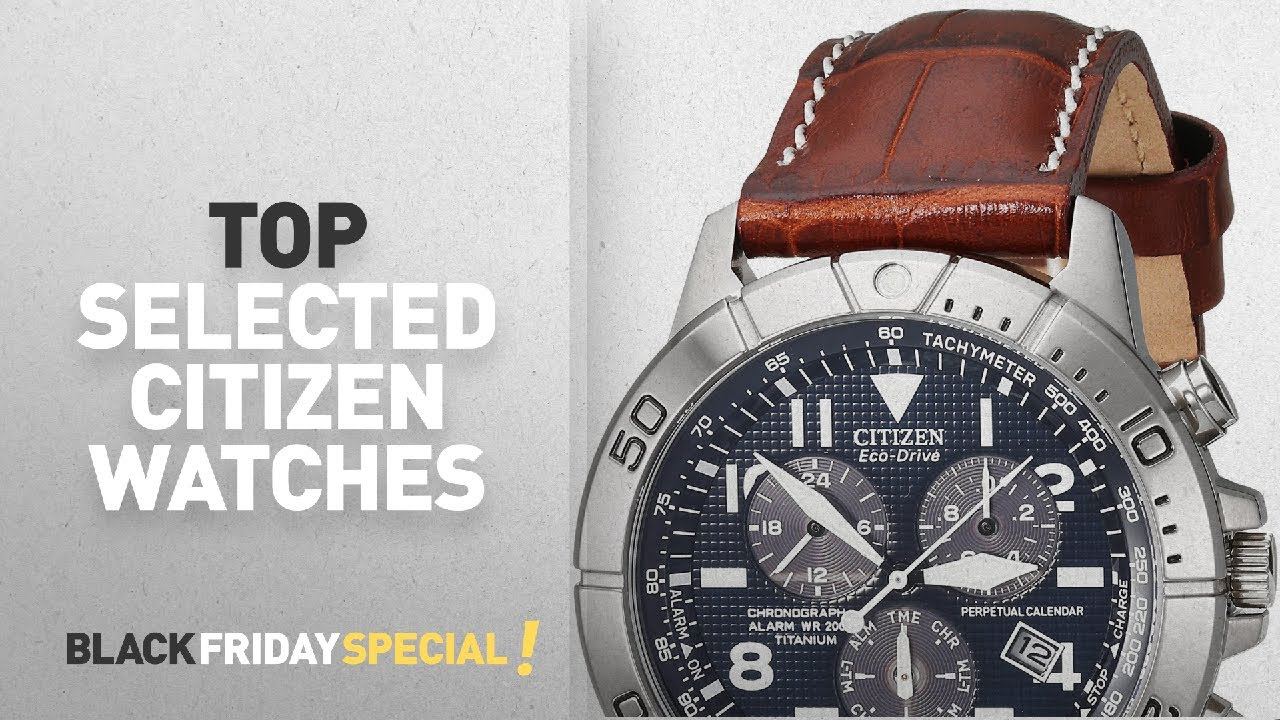 Top Black Friday Citizen Watches Citizen Men S Bl5250 02l Titanium Eco Drive Watch With Leather