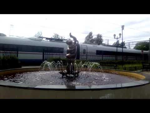 """Поезд """"Сапсан"""" Санкт Петербург - Москва. Станция Малая Вишера."""