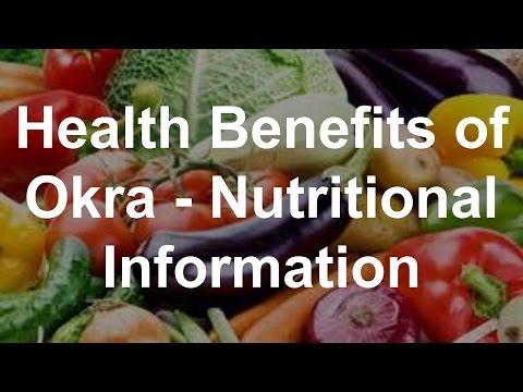 Health Benefits of Okra - Nutritional Information