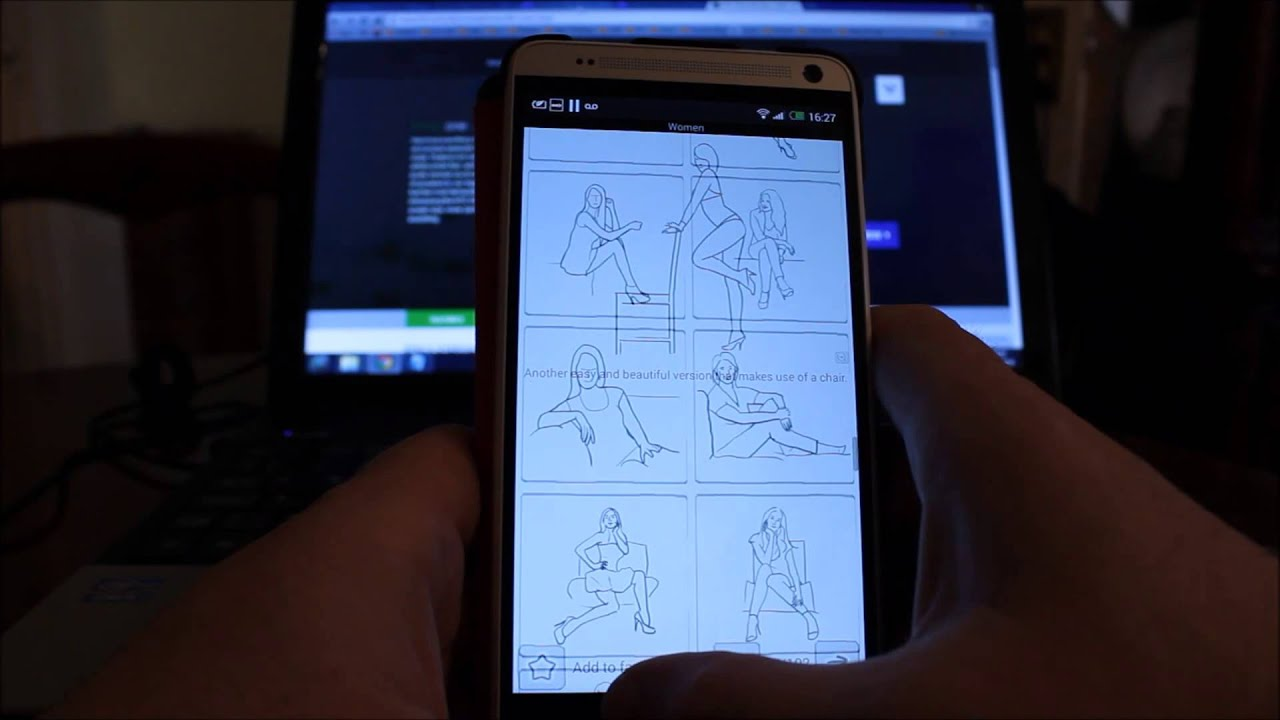 Android Posing App Review (For Photographers and Models) On The HTC One MAX