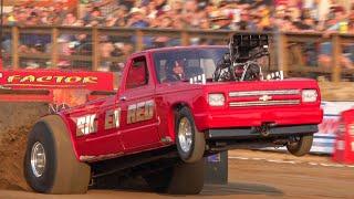 2021 Truck Pull Super Mod 2wd trucks Henry, Illinois Americas Pull. lucas Oil Pro Pulling