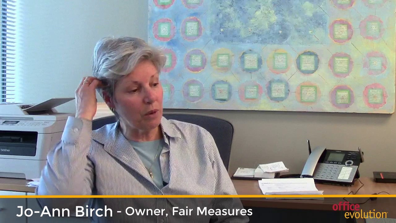 jo ann birch talks about office evolution youtube. Black Bedroom Furniture Sets. Home Design Ideas