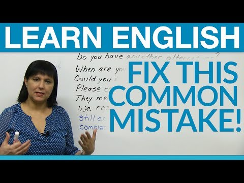 English Vocabulary: Find The Mistake