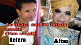 VIDIO VIRALL PART 4 !! TUN di make up in ternyata cantik juga😂 madura viral