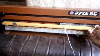Вязание на машинке Рута-85. Первые ряды