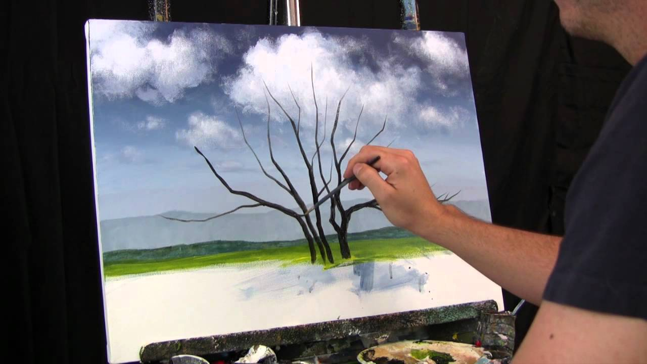Time Lapse Speed Painting Jacaranda Tree By Tim Gagnon Oil
