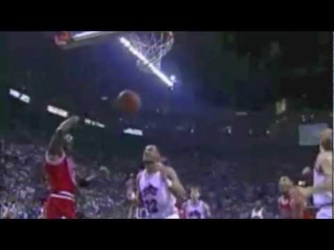 Michael Jordan versus Derrick Rose Highlights---Ni**as in Paris