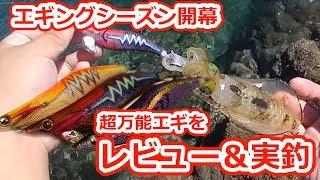 秋イカ狙いの最強エギ!一年中使いやすい万能サイズと、今年の新カラーをご紹介!!