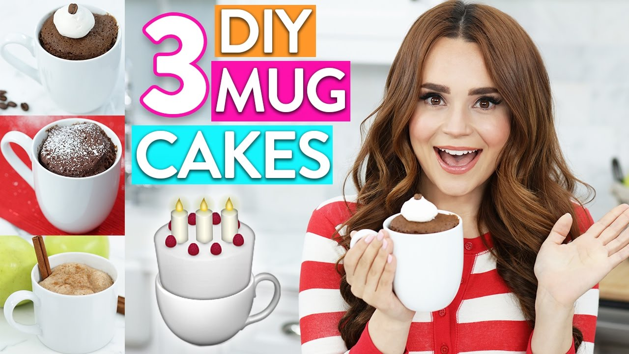 3 Easy Diy Mug Cakes Youtube