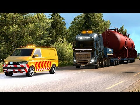 70T  OVERSIZE LOAD - Special Transport DLC First Look | Euro