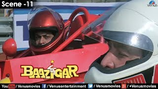 Shahrukh in F1 race (Baazigar)