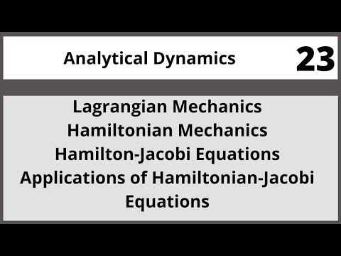 Analytical Dynamics in Hindi Urdu MTH382 LECTURE 23