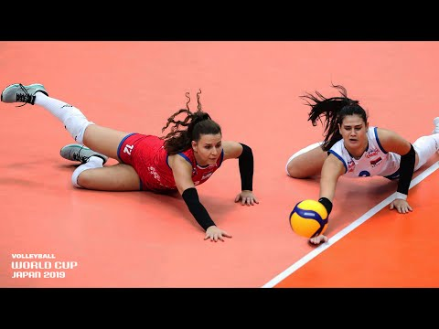 Top 10 CRAZY Digs & Saves of the Women's Volleyball World Cup 2019