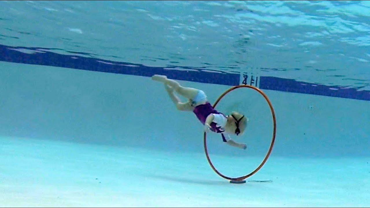 Elizabeth Swims Through Hoops Youtube