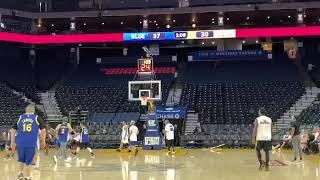 My first NBA three Pointer at the Golden State Warriors Oracle Arena