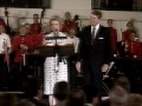 Morgan Choir sings at White House in 1988 with Marvin Hamlisch