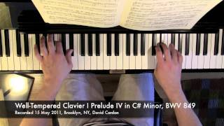 Well-Tempered Clavier I Prelude IV in C-sharp Minor, BWV 849