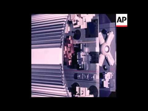SYND 9 8 76 US ANIMATION OF PLANNED SPACE STATION