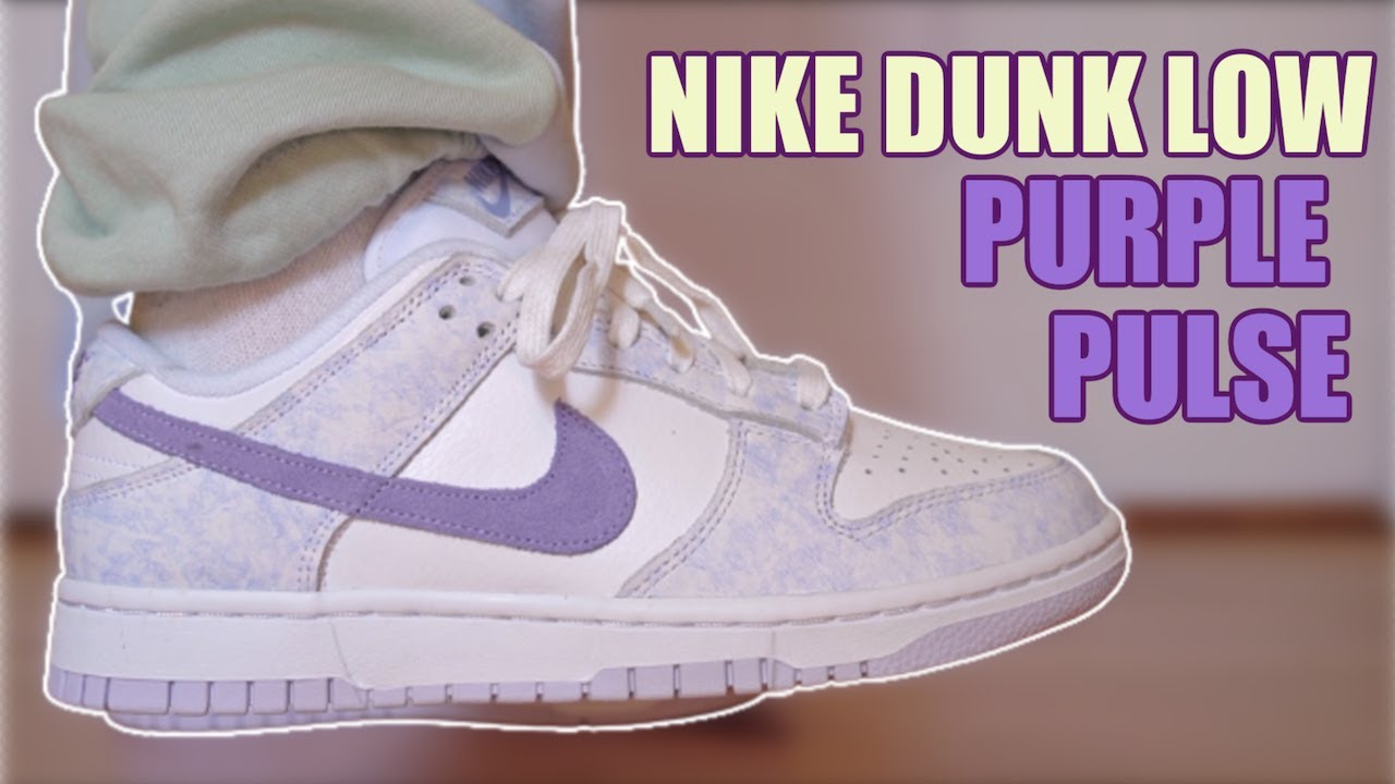 NIKE DUNK LOW PURPLE PULSE REVIEW & ON FEET + SIZING.....THESE ARE CLEAN!!