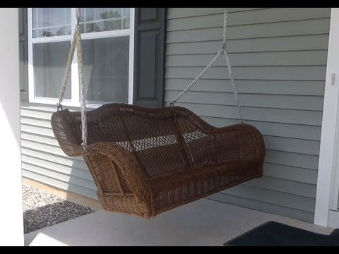 How To Install A Porch Swing Youtube