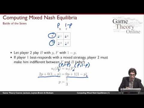GTO-2-03: Computing Mixed-Strategy Nash Equilibria