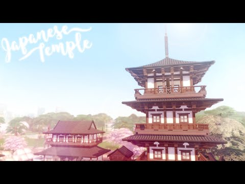Japanese Temple 🏯 🌸 | Redesign Newcrest #1 | The Sims 4 | Speed Build | CC Free + Download Links