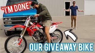 HE CRASHED OUR BIKE INTO A TREE!! (Broke his hand)