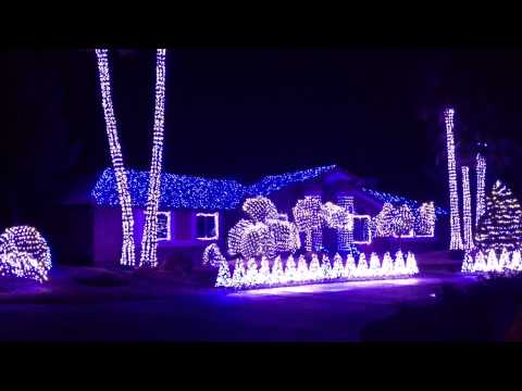 2012 Christmas Lights At 1420 E. Robindale Road, Las Vegas NV - YouTube
