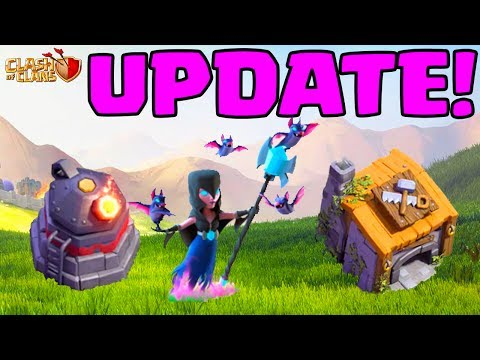 Thumbnail: UPDATE! Clash of Clans Builder Hall 6 - ROASTER, NIGHT WITCH!