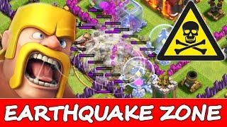 Clash Of Clans | WARNING! DO NOT ENTER THE EARTHQUAKE ZONE! | 3 STAR ATTACKS WITH NEW DARK SPELLS!