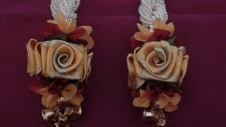 Satin rose and pearl hangings making video