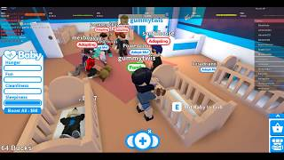 Adopt me roblox, baby looking for family, roblox play game. my real baby is my baby