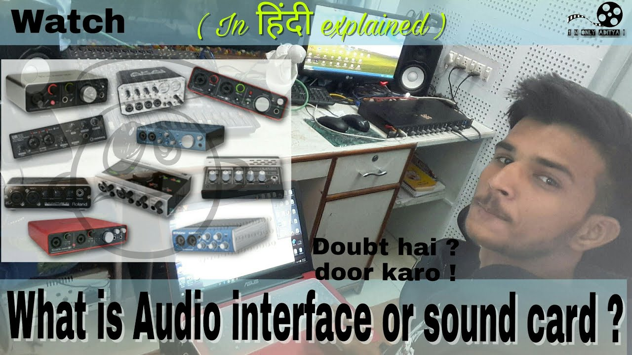 What Is Audio Interface Or Sound Card Hindi Explained Preamp Preamplifier For Soundcard External