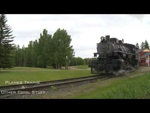 Calgary's Heritage Park Alco 0-6-0 steam train - pure sound