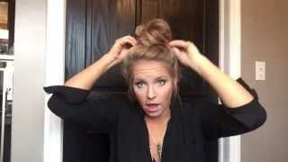 Easy everyday top knot tutorial