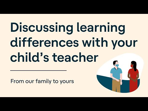 Discussing Learning Differences With Your Child's Teacher | From Our Family to Yours