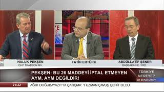 Türkiye Nereye 13 Mart 2018 / Abdüllatif Şener - Haluk Pekşen 1. Bölüm