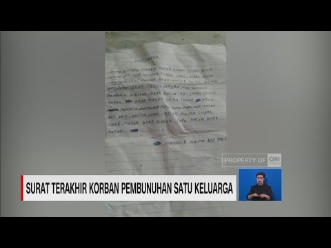 Surat Terakhir Korban Pembunuhan Satu Keluarga