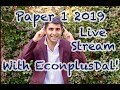 Paper 1 Live Stream with EconplusDal!