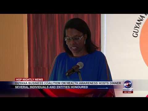 GUYANA BUSINESS COALITION ON HEALTH AWARENESS HOSTS DINNER