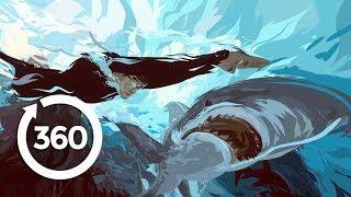 3D Painting: Phelps Vs. Shark (360 Video) thumbnail