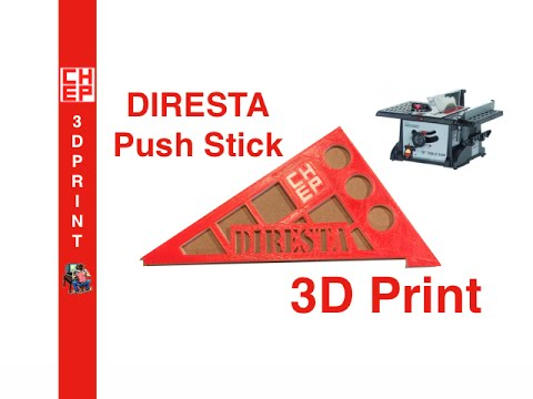 3d printing a diresta push stick custom designed in tinkercad video 049