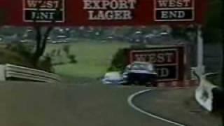 Bathurst 1987 - Seton (Nissan Skyline) and  Richards (BMW M3) Scrap.