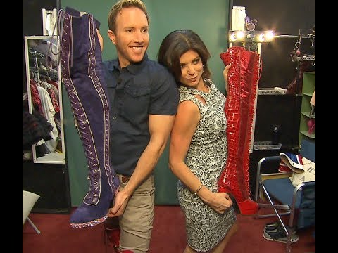 TAMSEN FADAL TRIES ON SOME *KINKY BOOTS*